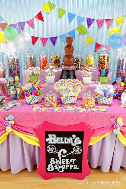 Cute candy bar party Love the frame idea, and the chocolate fountain. super cute idea!: