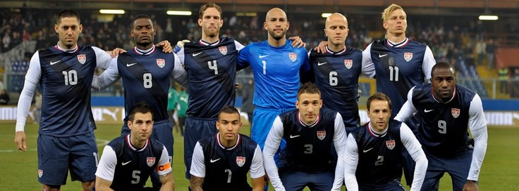The starting lineup for the U.S. Men's National Team in the 1-0 win against Italy on Feb. 29, 2012. — with Clint Dempsey, Carlos Bocanegra, Maurice Edu, Danny Williams, Tim Howard, Fabian Johnson, Michael Bradley, Steve Cherundolo and Brek Shea at Genoa, Italy.
