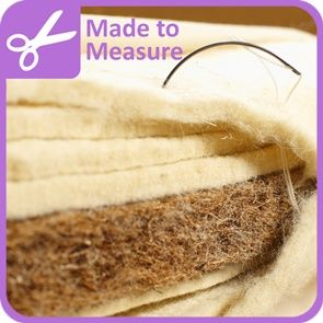 Create your own custom natural cot mattress