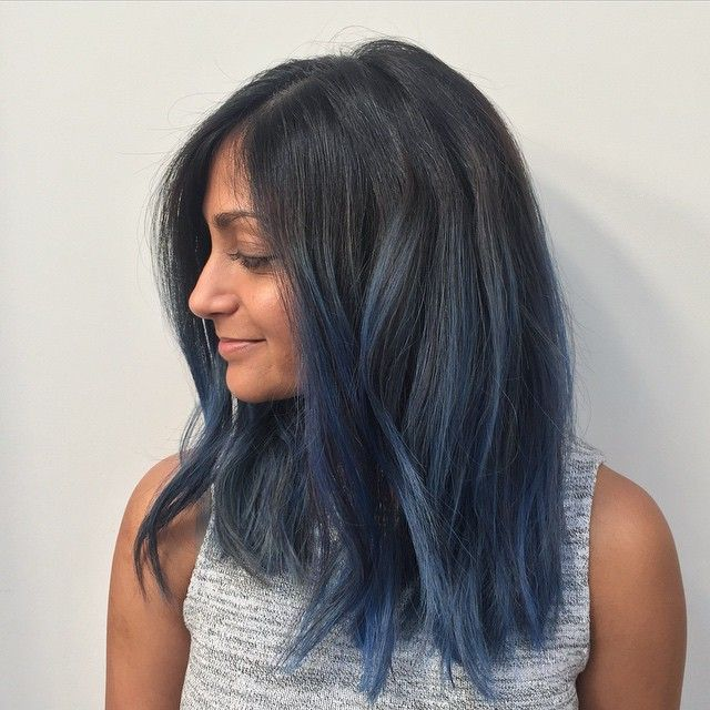 the 25 best ideas about blue hair highlights on pinterest