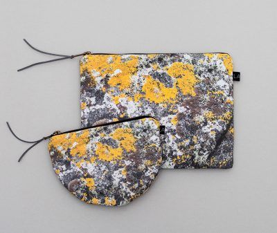 New KARIHOLA pouches with patterns from Norwegian nature.