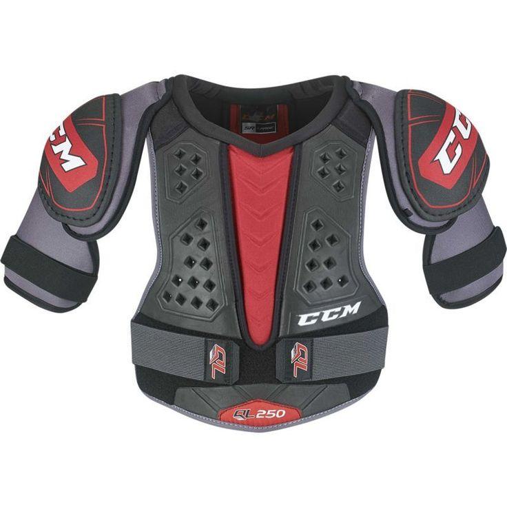 CCM Senior QuickLite 250 Ice Hockey Shoulder Pads, Black