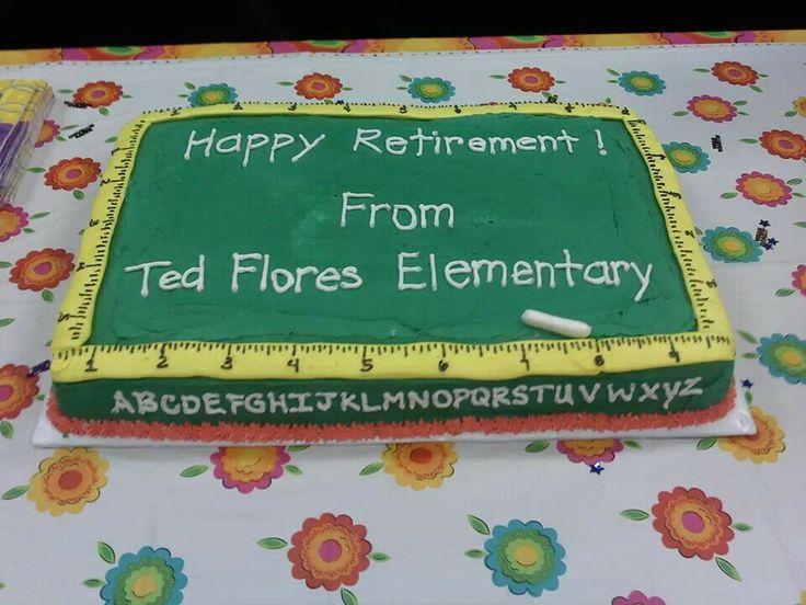 Teacher Retirement Cake Images : Teacher retirement cake Cakes Pinterest Retirement ...