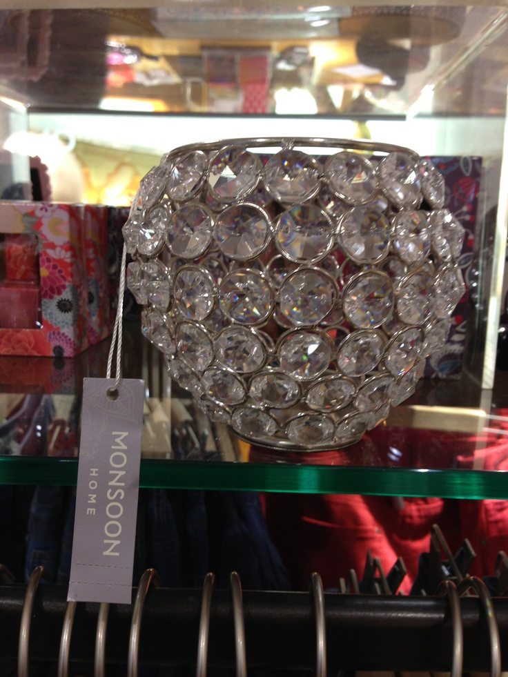 Beautiful crystal tea light from Monsoon... I must have it!!