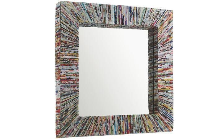 Recycled Magazine Square Mirror
