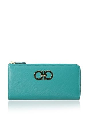 38% OFF Salvatore Ferragamo Women's Zip Wallet, Aqua