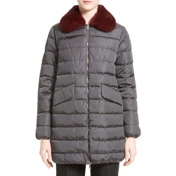 Women's Moncler 'Indis' Water Resistant Down Puffer Coat With... (1.146.505 CRC) ❤ liked on Polyvore featuring outerwear, coats, down coat, moncler, water resistant coat, puffy coat and puffer coat