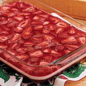 "Summertime Strawberry Gelatin Salad Recipe -<B>Meet the Cook:</B> For years, this salad has been a ""must"" at family dinners and special occasions. It's as pretty as it is good, so it's nice for serving at holiday feasts besides. My husband and I have three children, all grown, and a granddaughter. -Janet England, Chillicothe, Missouri"