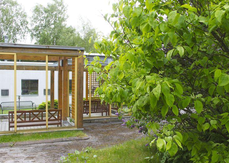 Foiben paviljonki on sisäpihalla.