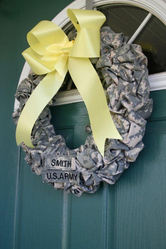 ARMY Wreath ACU by SandyKissesCloset on Etsy