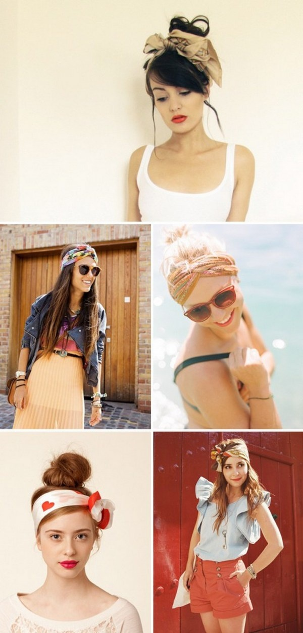 how to wear a headscarf with long hair