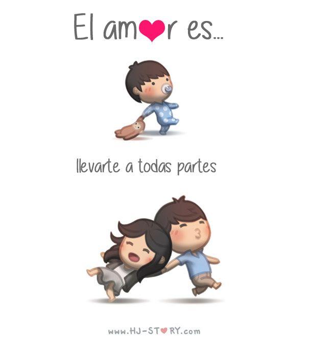 Ilustración el amor es                                                       …