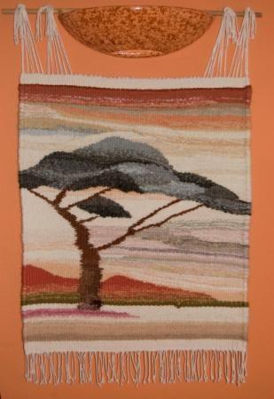 africa tapiz lana  anilana tapiz tejado artesanal
