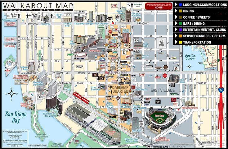 San Diego Gaslamp Quarter Interactive Walkabout Map. HTML5 ...