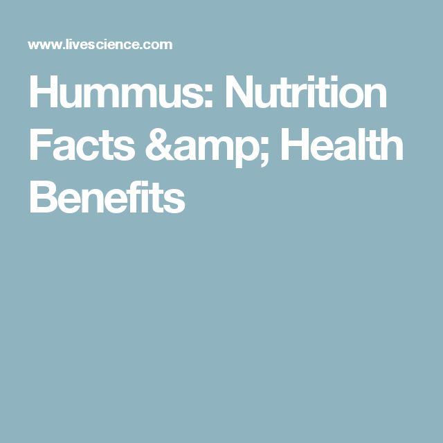 Hummus: Nutrition Facts & Health Benefits