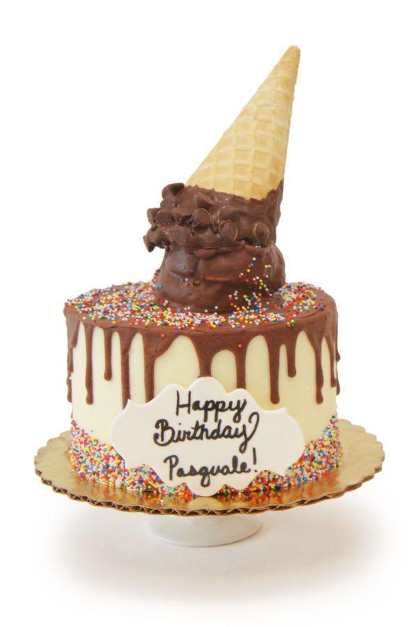 Ice Cream Cone Drip Cake Tutorial