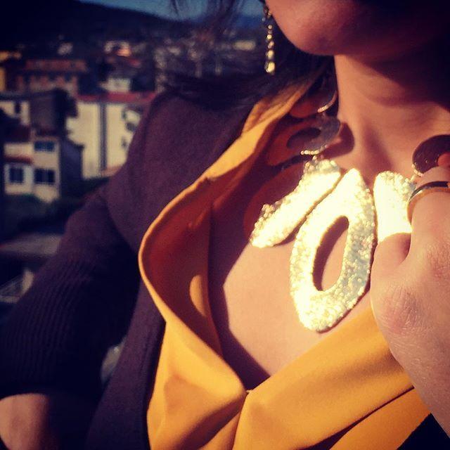 La nostra cliente Sara indossa la nuova #Collana #Gold of #egypt #ottone bagnato in #oro, allestita e rifinita a mano. #Gioiello #MadeinItaly #nichelfree. €39,99 #spedizionegratuita. #gioielliunici #instagood #instalike #shopping #jewelry #fashion #girl