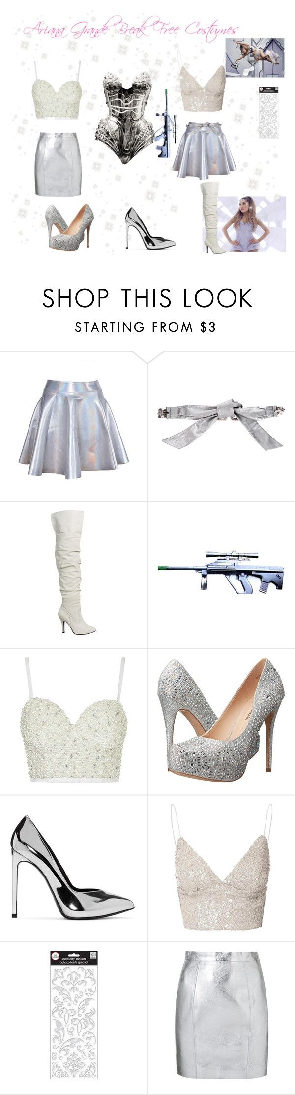 """♡ Ariana Grande Break Free Halloween Costumes ♡"" by kaylalovesowls ❤ liked on Polyvore featuring Dolce&Gabbana, Thierry Mugler, Topshop, Lauren Lorraine, Yves Saint Laurent and Glamorous"