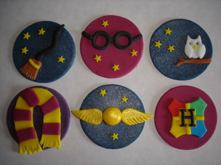 Harry Potter cupcake toppers x 6   eBay