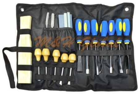 Sculpture Woodworking Chisel Sharpening Tool & 18 Pc Wood Carving Chisel Set from Generic