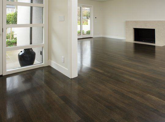 Dark stained white oak