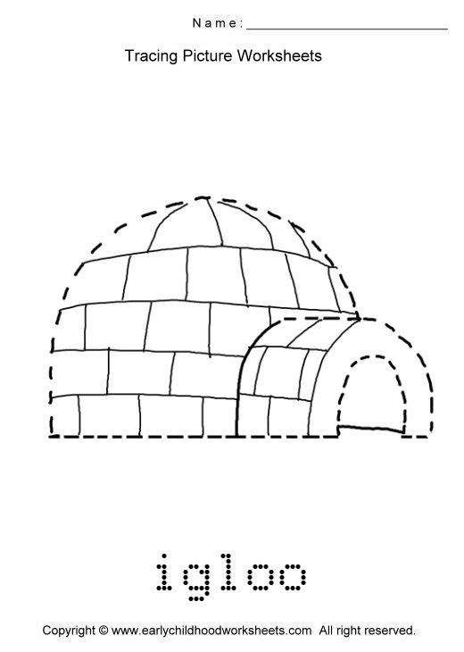 igloo worksheets images as