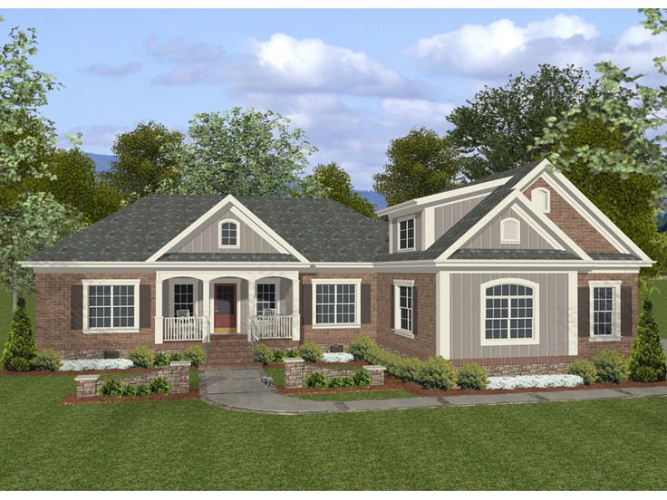 The 25 best brick ranch house plans ideas on pinterest for House plans and more com home plans