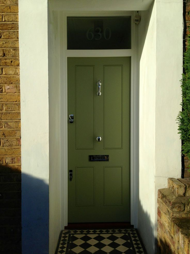 Georgian simplicity with flush panels in farrow and ball 39 s for Flush front door