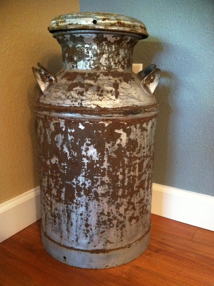 upcycled old milk can in my home pinterest