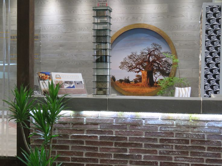 On display our Klompie brick claddng and Oxford Wood Tile Cladding.