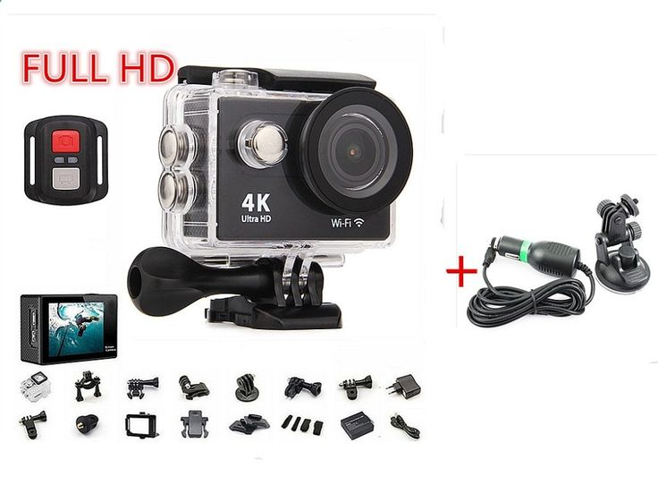 52.50$ Watch more here - Sport action video camera 4K wifi Ultra HD 1080p 60fps 170D waterproof mini camera sports camera gopro hero  Car Charger for SJ