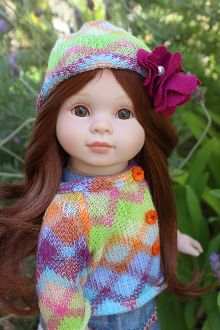 Baby Doll of the month, April. Cloth body, vinyl limbs doll.