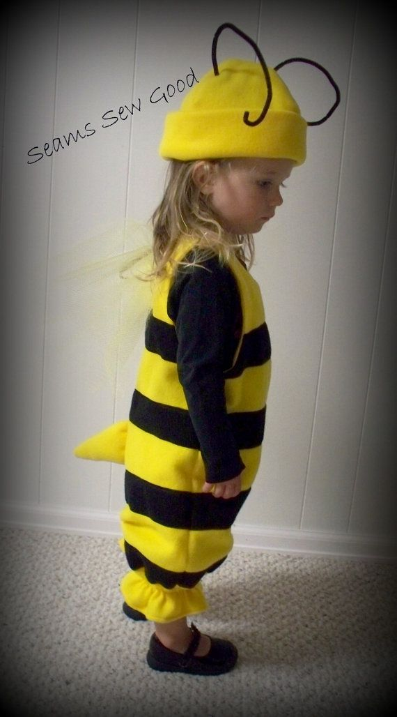 Bumble Bee Costume for Toddler by SeamsSewGood on Etsy