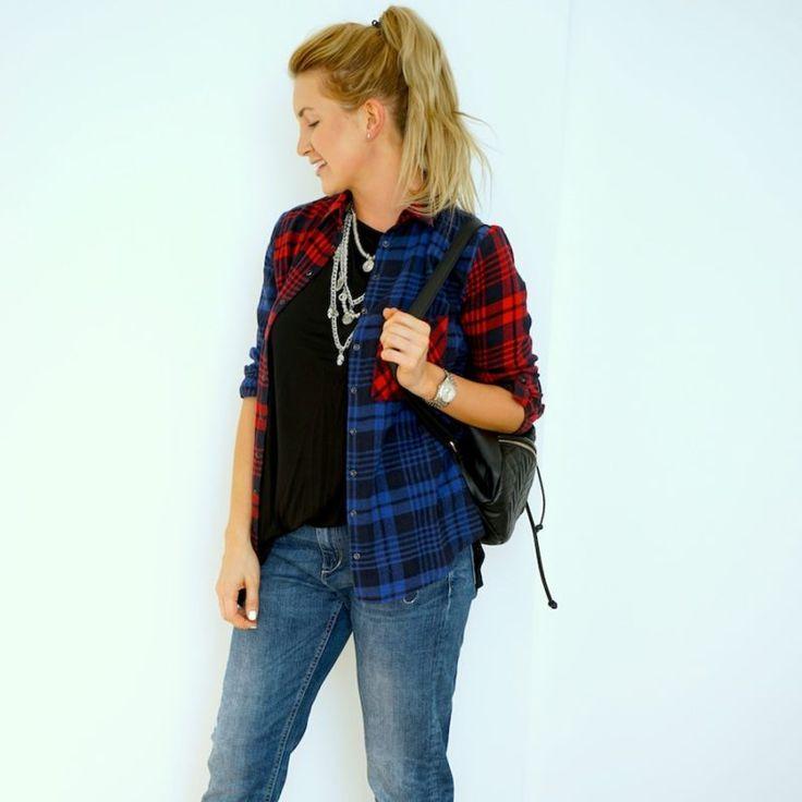 Red plaid shirt & boyfriend jeans  http://ivanova-gazinskaya.ru/krasnaya-rubashka-v-kletku-3-obraza/