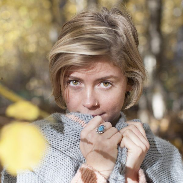 Hello Sunday Cuddle Cardigan knit in Sumptuous by The Woven Gold eyes!