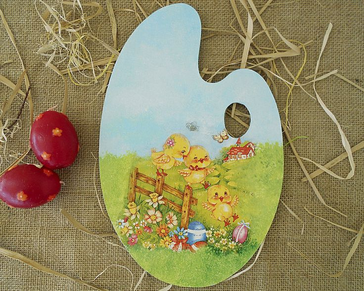 Easter Decor - Rustic Home Decor - Wood Sign - Farmhouse Decor - Wood Signs Personalized - Spring Decor - Easter Chickens - ArtFly Creations by ArtFlyCreations on Etsy