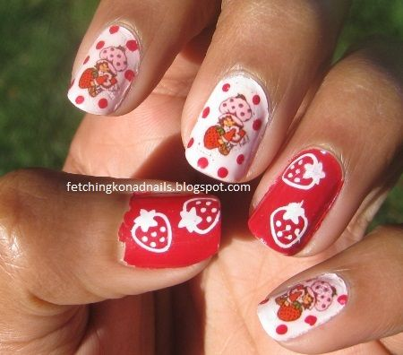 Fetching Konad Creations: A Berry Busy Mani