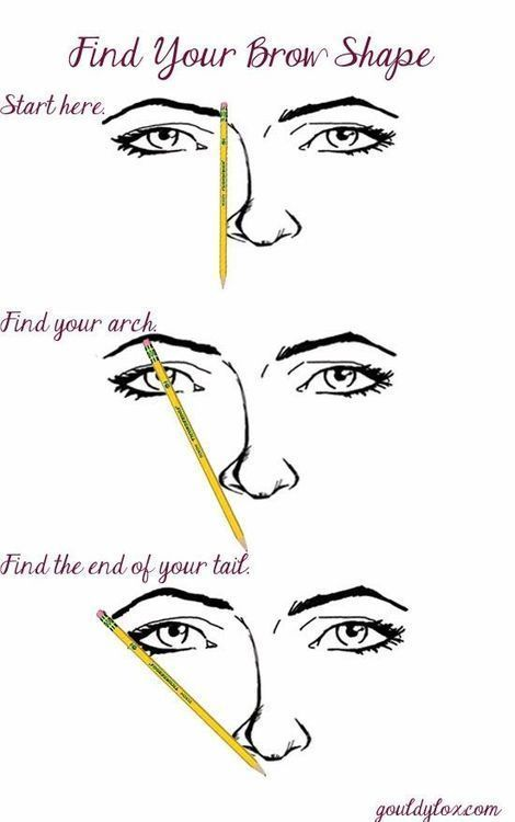 Brow Tip. Eyebrow Shaping Tutorial Including Tips For Plucking, Eyebrow Shaping For Beginners, DIY, And How To Get Arches.  See The Difference For Eyebrow Shaping Before and After.  Learn How To Shape With Pencil To Get Perfect Eyebrows.  Makeup Can Be Enhanced With Threading And Waxing And Using A Stencil. #PerfectEyebrows