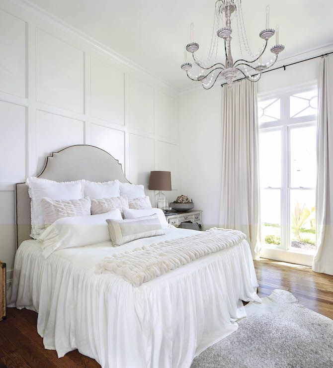 Master Bedroom Design Ideas: Board And Batten Accent Wall, French, Bedroom, Benjamin