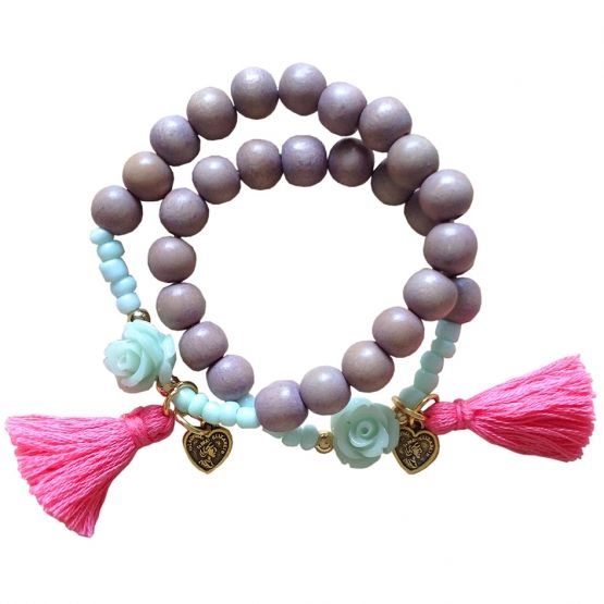 FeelGood Market online:Poppaa moeder-dochter armbanden set
