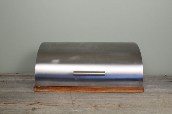 Mid Century Modern Industrial Bread Box by NewfoundFinds on Etsy