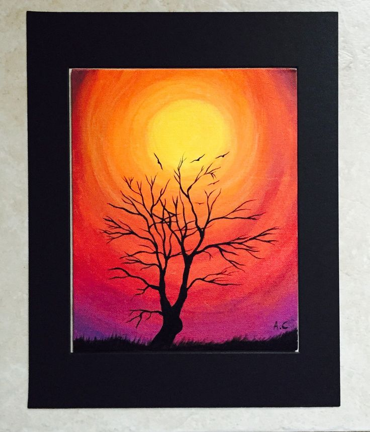 Sunset acrylic painting by ArditaLoveArt on Etsy