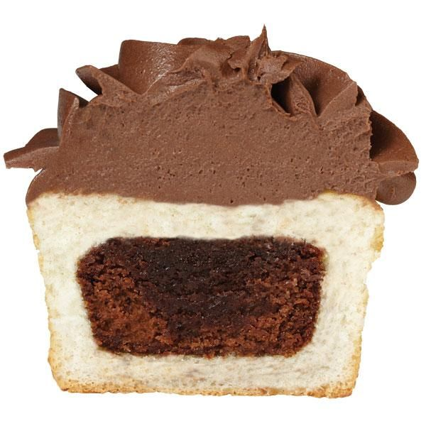 Add a mini brownie to the center of a cupcake. No one can resist this fudgy delight!