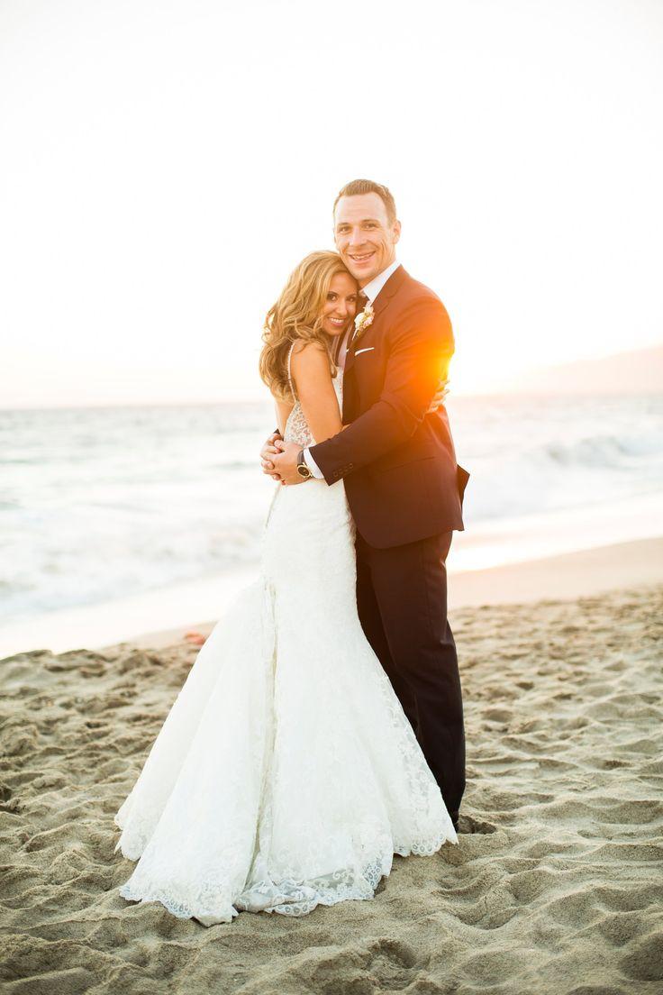 pure lavish events | beach wedding | malibu wedding | bride and groom | wedding gown | lavender wedding | black and purple wedding | katrina jayne