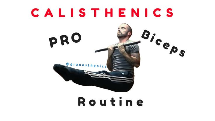 Calisthenics - Top 6 Esercizi per Bicipiti solo Corpo Libero (1min)