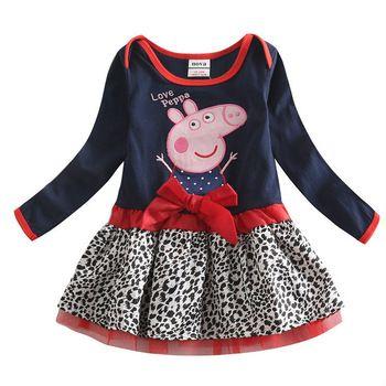 One piece retail peppa pig meninas vestem novo 2014 crianças roupas menina peppa porco vestido crianças 2014 meninas de verão bonito vestidos nova