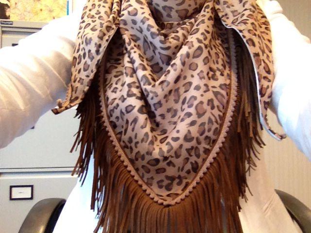 Driehoek sjaal Ibiza style