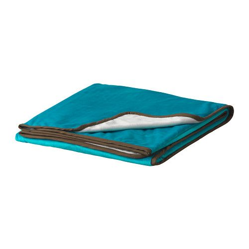 MALIN Throw IKEA Microfiber fleece; ultra soft with a velvety look. Double-sided; different color on each side. $19.99