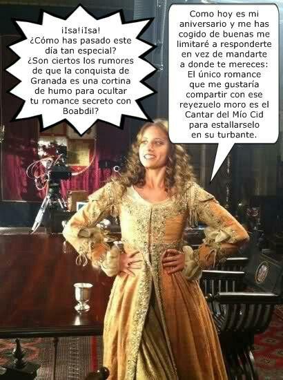 Isabel por @LaIsaCabreada en Twitter.