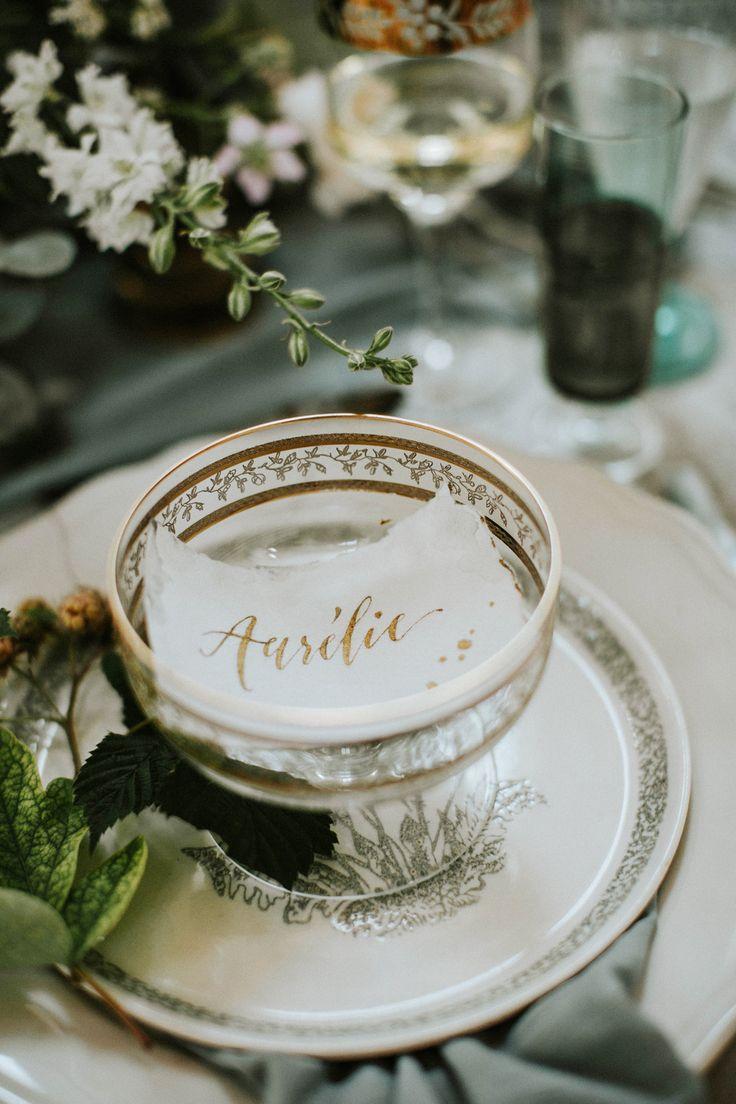 silver wedding details - http://ruffledblog.com/hungarian-chapel-elopement-editorial